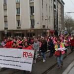 <b>Les gilets roses du Finistère ont lancé la journée de mobilisation à Brest, samedi 9 mars 2019</b>