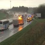 <b>Série d'accidents sur l'A28 entre Saint-Martin-Osmonville et Bosc-Mesnil</b>