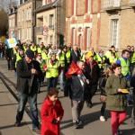 <b>VIDEO. Une centaine de Gilets jaunes dans les rues : la mobilisation faiblit à Flers</b>