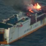 <b>Bretagne. Incendie toujours en cours sur le navire de commerce Grande America</b>