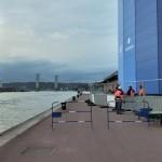 <b>Pour l'Armada, une passerelle construite pour élargir les quais de Rouen, face au Panorama XXL</b>