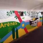 <b>Toulouse. Une nouvelle œuvre de street art, réalisée par dix ados, pour colorer un accès au métro</b>