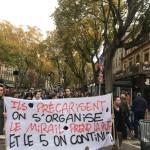 <b>VIDÉOS. Les étudiants de Toulouse manifestent contre la précarité dans les rues du centre-ville</b>