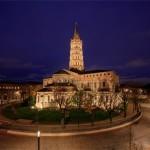 <b>L'IMAGE. La place Saint-Sernin, à Toulouse, parée de ses nouveaux habits de lumière</b>
