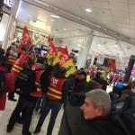 <b>Réformes des retraites. Des syndicalistes de la CGT mobilisés dans un centre commercial de Toulouse</b>