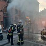 <b>Vidéo. Toulouse. Un incendie en cours chez Cafés Bacquié, véritable institution du centre-ville</b>