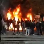 <b>VIDÉO. Toulouse : un départ de feu impressionnant lors du blocage du lycée Bellevue</b>