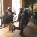 <b>Croche-pied à une manifestante, tir de LBD à bout portant... Castaner et Philippe sermonnent les for...</b>